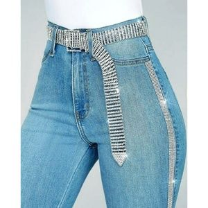 ultrachicfashion.com Jeans - Sparkling Crystal Jeans